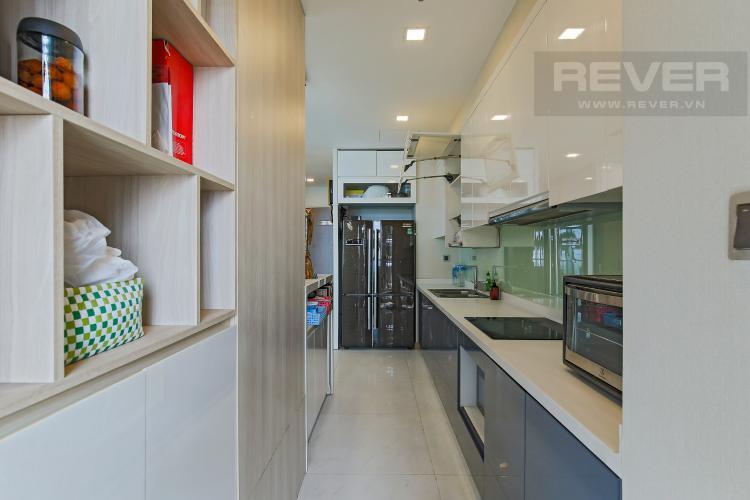 Phòng Bếp Bán căn hộ Vinhomes Central Park tầng trung tháp Park 1, 4PN 3WC, đầy đủ nội thất, view sông Sài Gòn