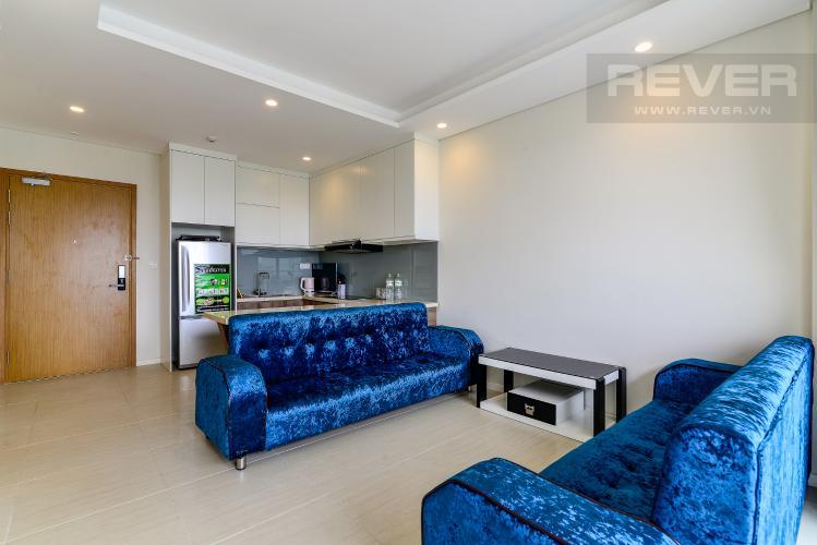 Phòng Khách Bán căn hộ Diamond Island - Đảo Kim Cương 1PN, tháp Bora Bora, view sông và hồ bơi