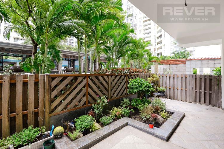 Sân Vườn Bán hoặc cho thuê căn hộ sân vườn Estella Residence 3PN, có 2 cửa, diện tích 171m2, nội thất cơ bản