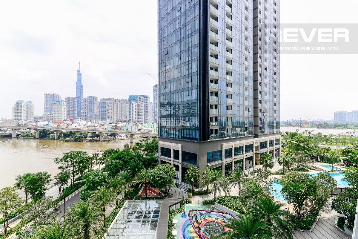 4.1 Cho thuê căn hộ Vinhomes Golden River 2PN, tầng thấp, đầy đủ nội thất, view sông và Landmark 81