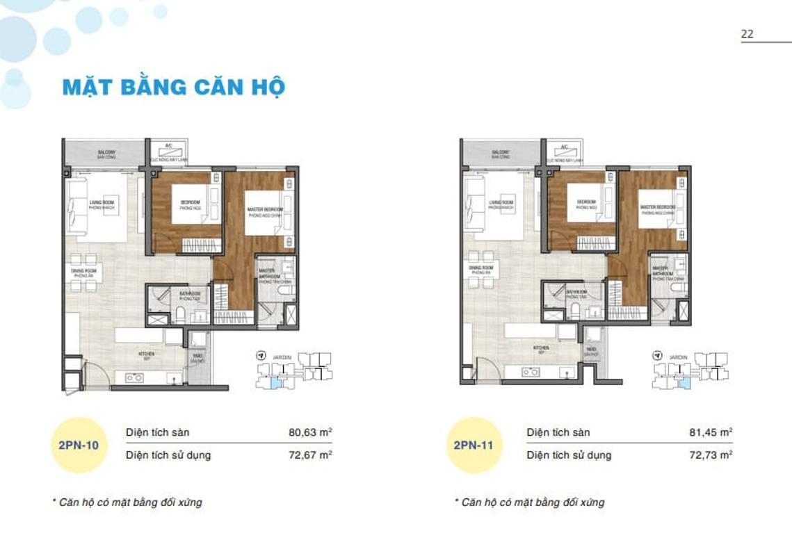One-verandah-mat-bang-can-ho Bán căn hộ One Verandah 2PN, tầng thấp, diện tích 81m2, nội thất cơ bản