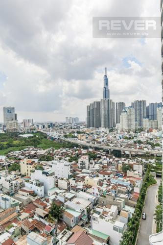 View Bán căn hộ City Garden 2 phòng ngủ diện tích lớn, đầy đủ nội thất, view Landmark 81