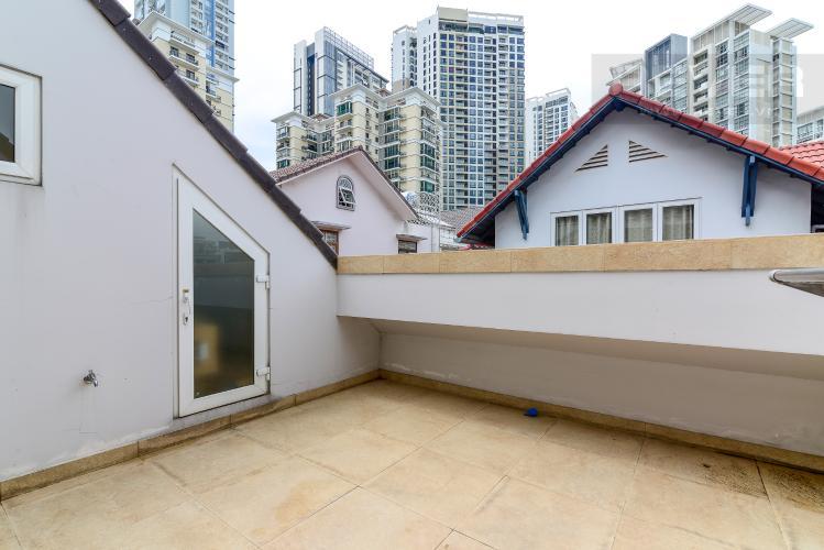 Sân Thượng Cho thuê biệt thự Khu dân cư An Phú, hướng Đông Nam, thiết kế sang trọng, đầy đủ nội thất