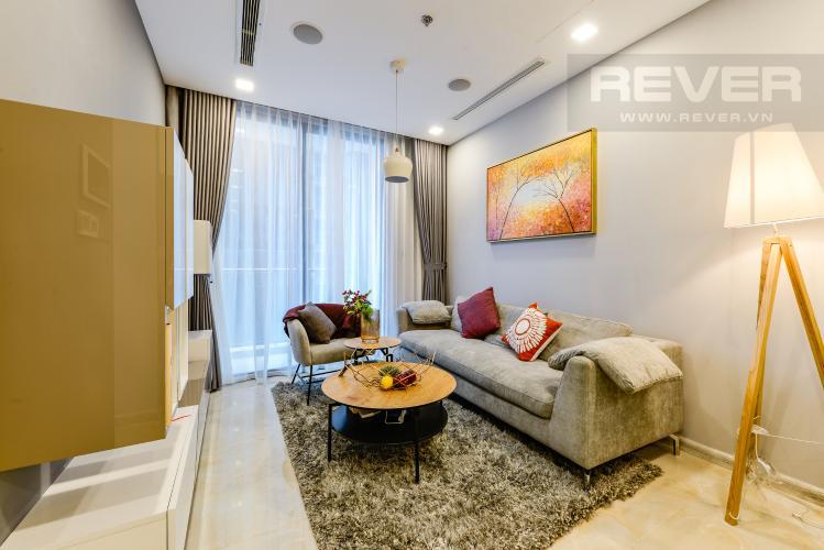 Phòng khách Bán và cho thuê căn hộ Vinhomes Golden River tầng trung, 1PN đầy đủ nội thất, view sông