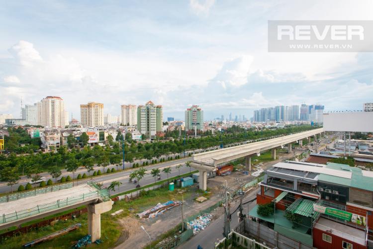 View nhìn từ căn hộ Căn hộ Masteri Thảo Điền tầng trung hướng Tây tháp T1