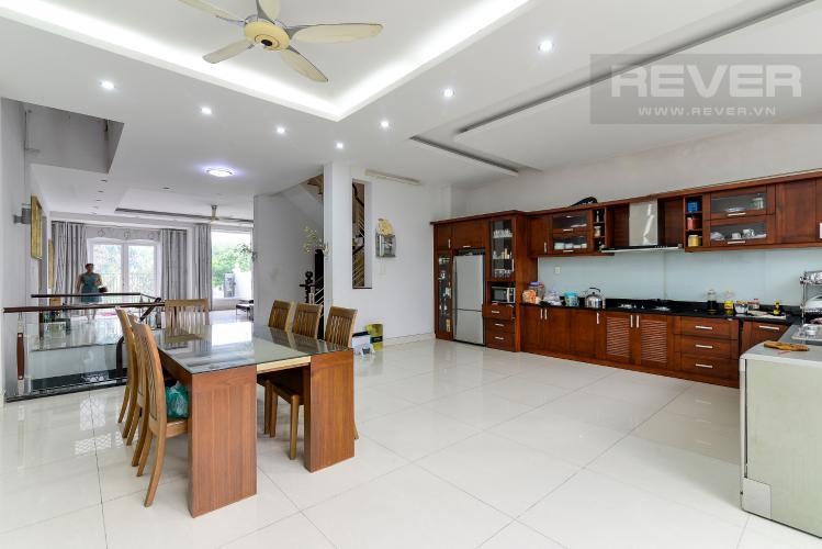 Khu Vực Phòng Ăn & Bếp Cho thuê biệt thự đường số 37, phường An Khánh, Quận 2, đầy đủ nội thất, diện tích đất 182m2, cách đường Lương Định Của 600m