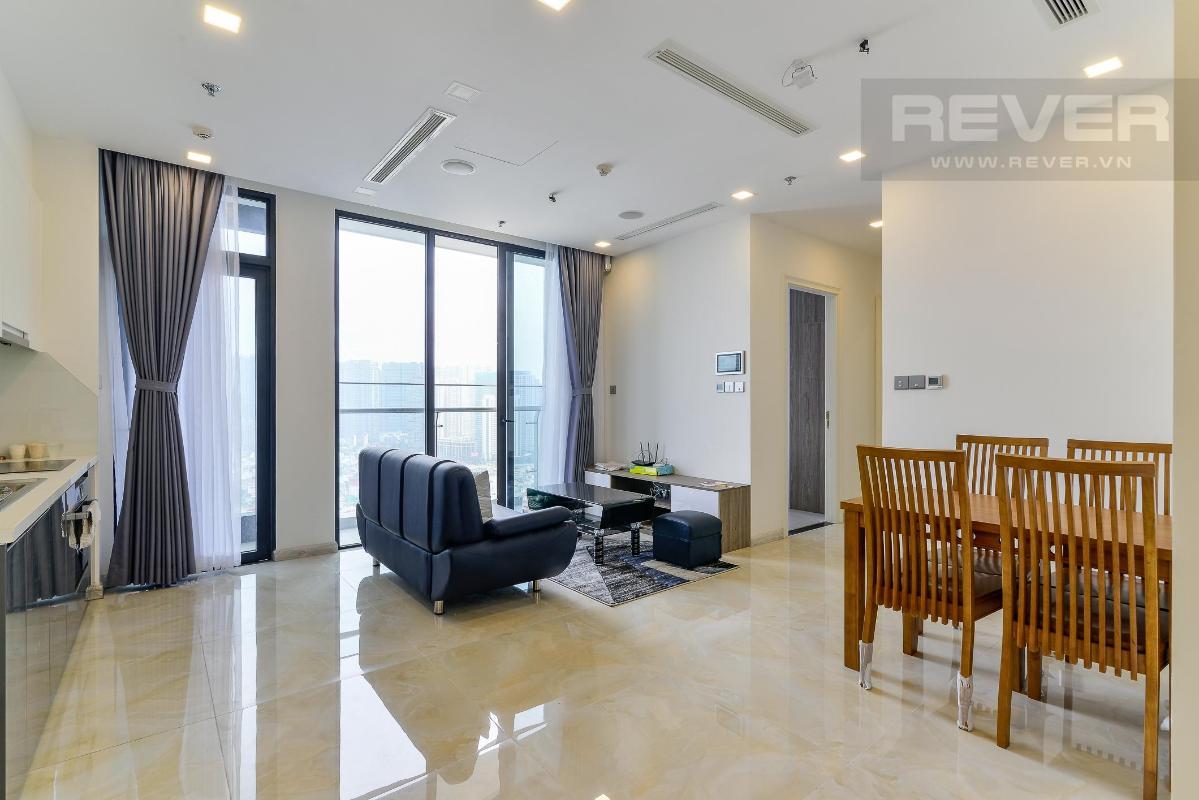 4 Cho thuê căn hộ Vinhomes Golden River 2PN, tầng trung, đầy đủ nội thất, view sông và Landmark 81