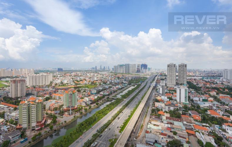 View toàn cảnh nhìn từ căn hộ Căn hộ Masteri Thảo Điền tầng cao tháp T1B view nhìn về Quận 1