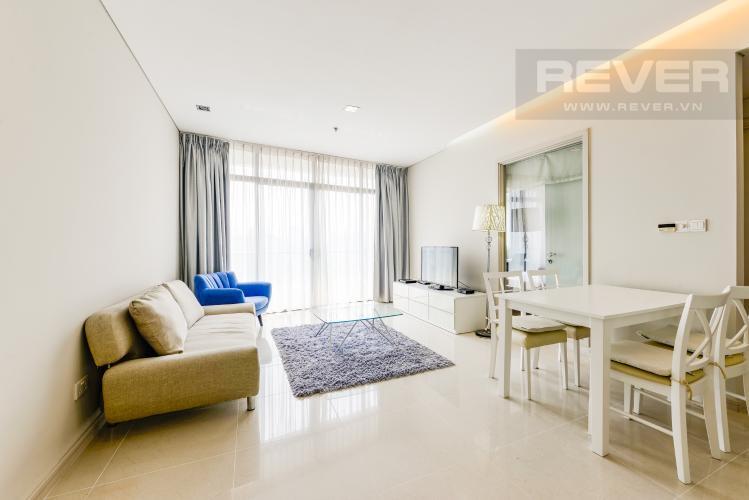 Phòng khách Căn hộ City Garden tầng trung, 1PN đầy đủ nội thất, có thể dọn vào ở ngay