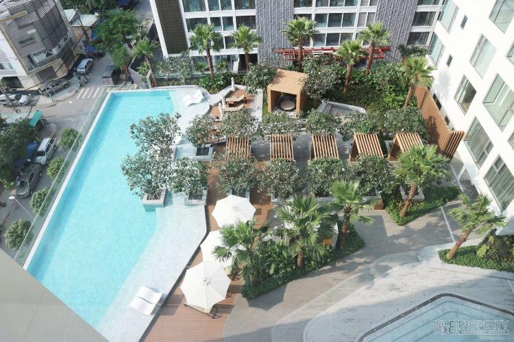 hồ bơi trong khu căn hộ Gateway Thảo Điền Căn hộ Gateway Thảo Điền đầy đủ nội thất tinh tế, view thành phố.