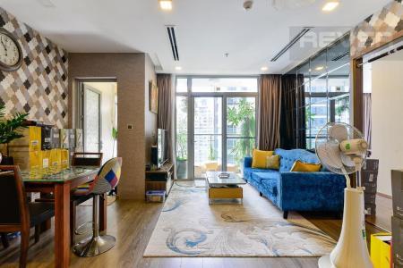 Cho thuê căn hộ Vinhomes Central Park 2PN, tháp Park 1, đầy đủ nội thất, view sông thoáng mát