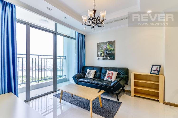 Phòng Khách Căn hộ Vinhomes Central Park 2 phòng ngủ tầng cao L2 view sông