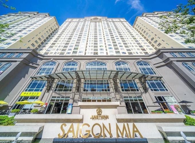 buiding_sai_gon_mia Bán căn hộ tầng trung Saigon Mia chưa bàn giao, ban công thoáng mát.