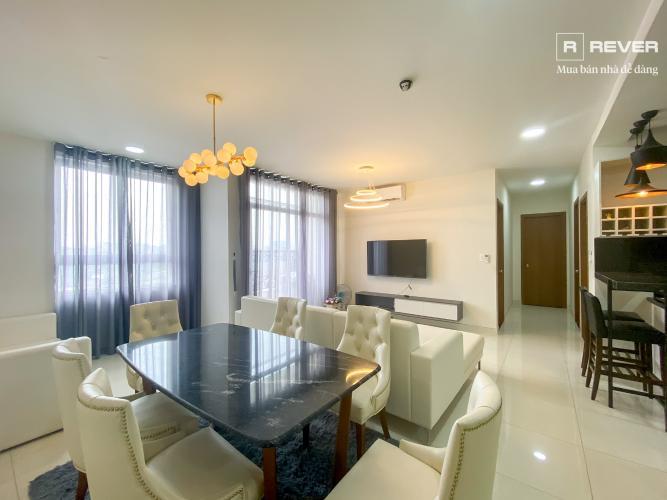 Cho thuê căn hộ Grand Riverside 3PN, tầng 3A, đầy đủ nội thất, ban công hướng Đông