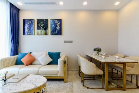 Cho thuê officetel Vinhomes Golden River 2PN, diện tích 68m2, đầy đủ nội thất, view sông Sài Gòn