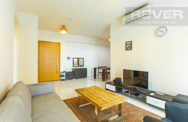 Phòng Khách Căn hộ The Vista An Phú tầng trung, 2PN, nội thất đầy đủ, view hồ bơi