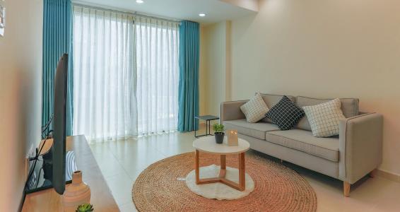 Căn hộ M-One Nam Sài Gòn 2 phòng ngủ tầng thấp T2 hướng Bắc