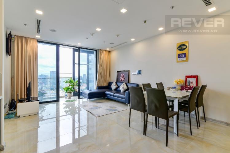 Phòng Khách Bán căn hộ Vinhomes Golden River 2PN, tầng trung, tháp The Aqua 4, đầy đủ nội thất, view sông Sài Gòn
