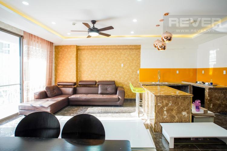 Phòng khách căn hộ Saigon South Residence Cho thuê căn hộ Saigon South Residence 3PN, diện tích 100m2, đầy đủ nội thất, view nội khu yên tĩnh