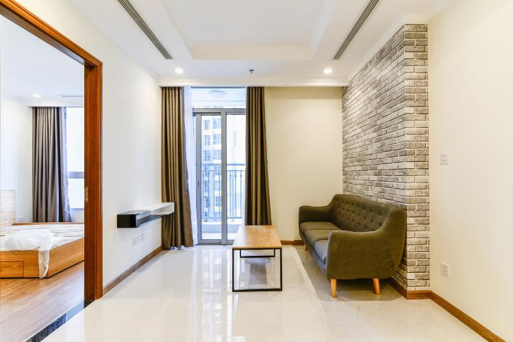 Officetel Vinhomes Central Park 1 phòng ngủ tầng thấp L4 nội thất đầy đủ