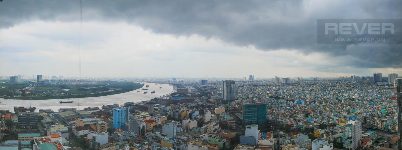 View Cho thuê căn hộ The Tresor tầng cao, 3PN, view sông Sài Gòn