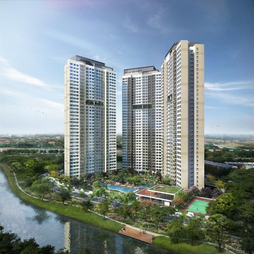 Bán căn hộ Palm Heights 3PN, tầng cao, diện tích 94m2, hướng Đông Nam, không có nội thất