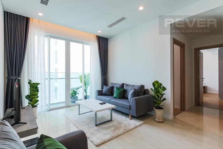 Phòng Khách Cho thuê căn hộ Sadora Sala Đại Quang Minh 88m2, nội thất tiện nghi, view hồ bơi