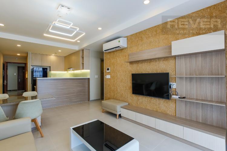 Phòng Khách Căn hộ The Gold View 2 phòng ngủ tầng cao tháp B nội thất hiện đại