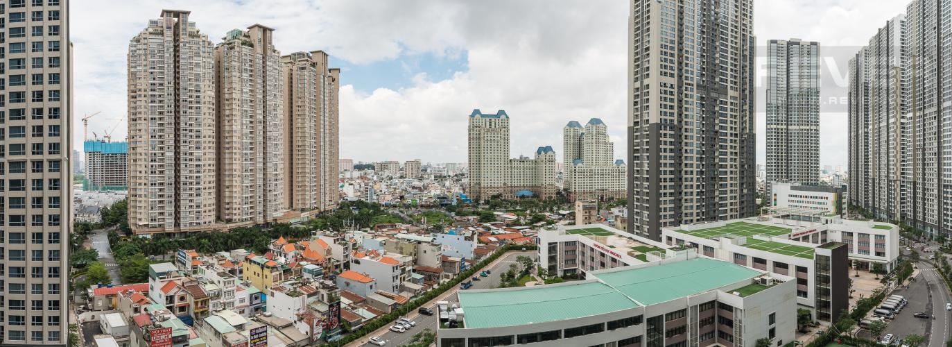 View Cho thuê căn hộ Vinhomes Central Park tầng trung, 2PN, đầy đủ nội thất, view đẹp