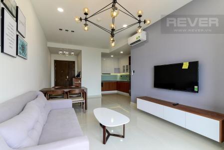 Cho thuê căn hộ Saigon Royal 2PN, đầy đủ nội thất, diện tích 88m2, view Bitexco và sông Sài Gòn thoáng đãng