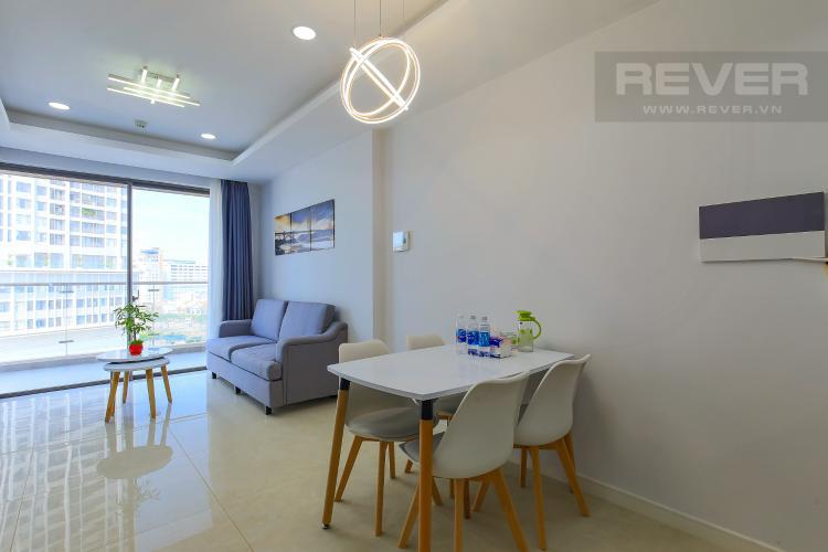 Bàn Ăn Cho thuê căn hộ Masteri Millennium tầng trung, 2PN, đầy đủ nội thất