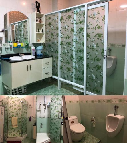 Phòng tắm nhà Trần Quang Diệu, quận 3 Nhà phố trung tâm quận 3, hướng Nam, nội thất đầy đủ mới.