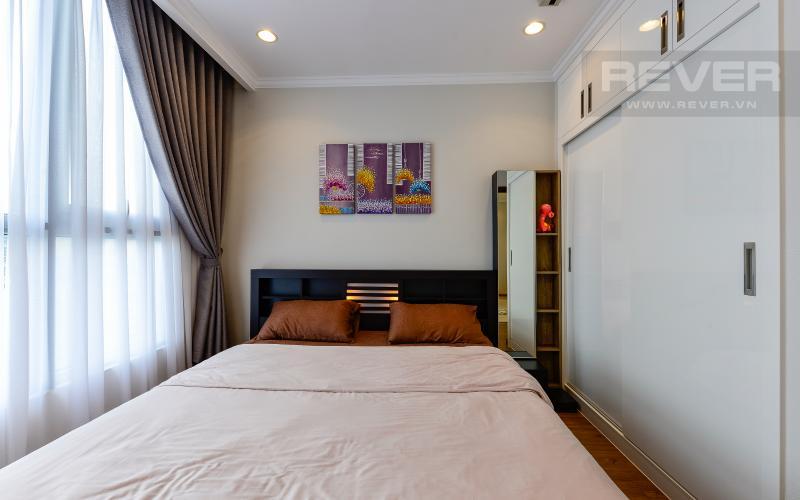phòng ngủ Căn hộ Vinhomes Central Park tầng cao Central 2 view sông