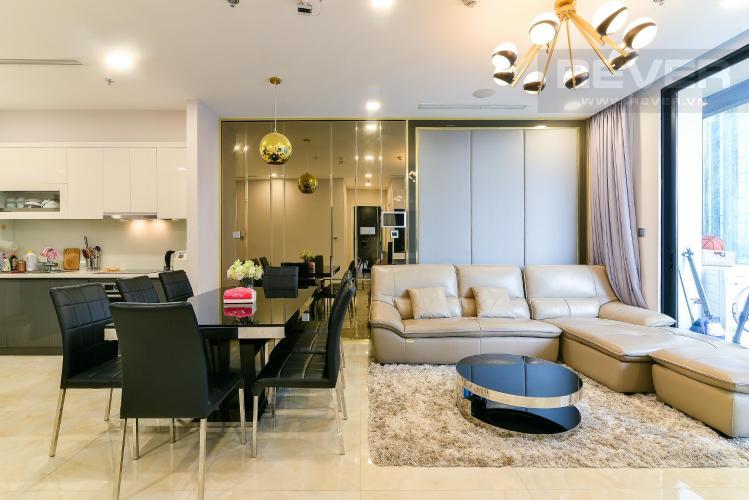 Phòng khách căn hộ Vinhomes Golden River Bán hoặc cho thuê Vinhomes Golden River 2PN, tháp The Aqua 1, đầy đủ nội thất, view sông và nội khu