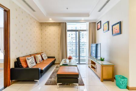 Căn hộ Vinhomes Central Park tầng thấp, tháp Central 2, 2 phòng ngủ, full nội thất