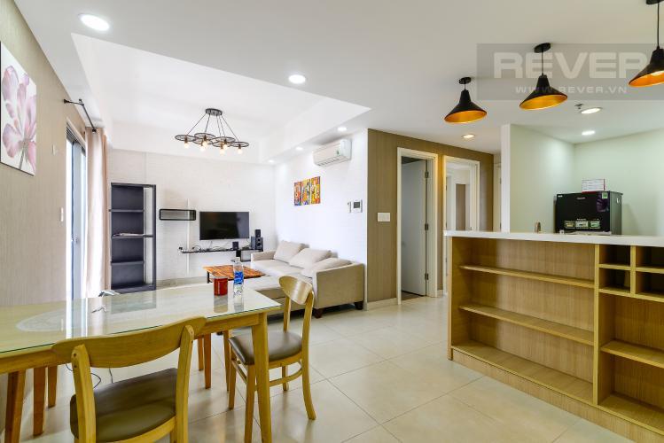 Phòng Khách Cho thuê căn hộ Masteri Thảo Điền 2PN, tầng thấp, tháp T4, đầy đủ nội thất