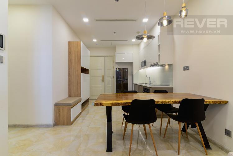 Phòng Ăn & Bếp Cho thuê căn hộ Vinhomes Golden River 1PN, tầng cao tháp The Aqua 1, đầy đủ nội thất, view sông tuyệt đẹp