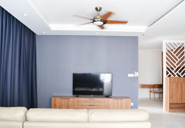 Phòng khách căn hộ DIAMOND ISLAND - ĐẢO KIM CƯƠNG Cho thuê căn hộ Diamond Island - Đảo Kim Cương 3PN, tầng trung, đầy đủ nội thất, căn góc view thoáng