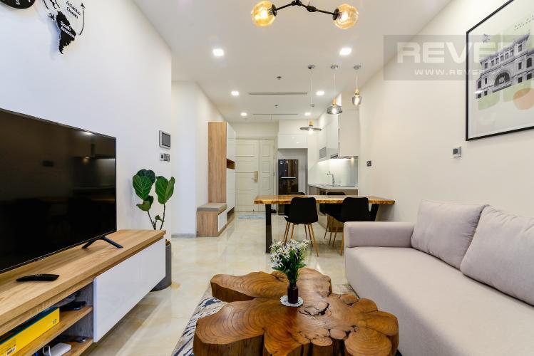Phòng Khách Cho thuê căn hộ Vinhomes Golden River 1PN, tầng cao tháp The Aqua 1, đầy đủ nội thất, view sông tuyệt đẹp