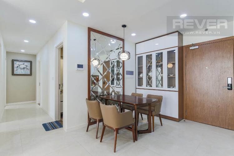 Bàn Ăn Căn hộ Masteri Millennium tầng cao, 3PN, đầy đủ nội thất, view kênh Bến Nghé