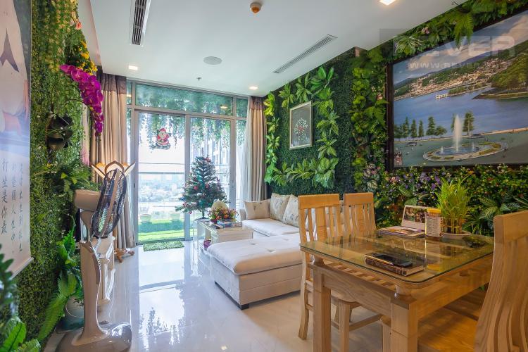 Phòng Khách Căn hộ Vinhomes Central Park 3 phòng ngủ tầng trung P6 view công viên