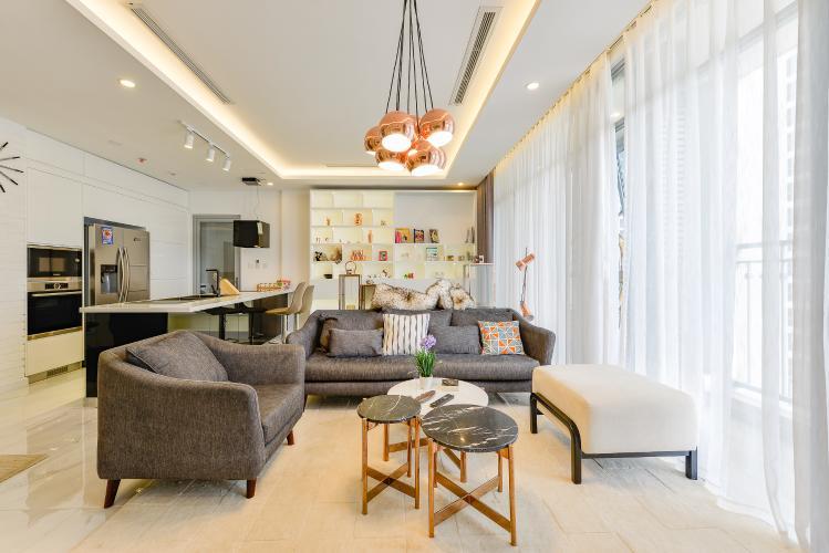 Căn hộ Vinhomes Central Park tầng thấp C1 thiết kế đẹp, đầy đủ tiện nghi