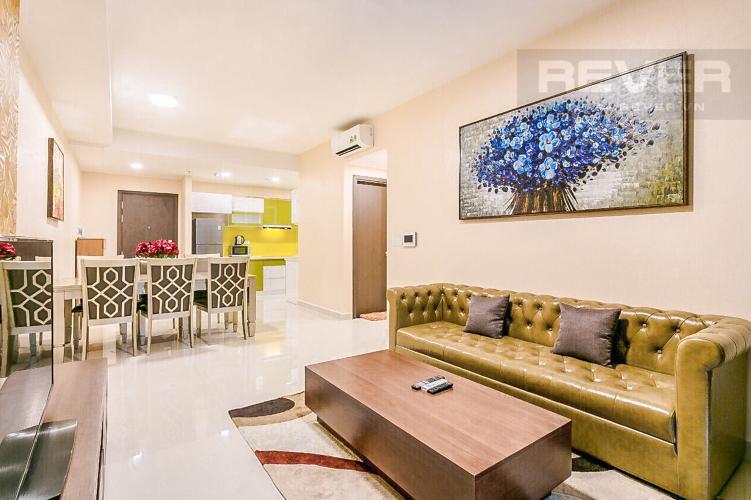 Phòng Khách Bán căn hộ The Tresor 114m2 3PN 2WC, đầy đủ nội thất, view sông