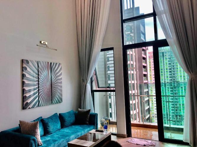 Căn hộ Duplex Feliz En Vista tầng cao, view nội khu thoáng mát.