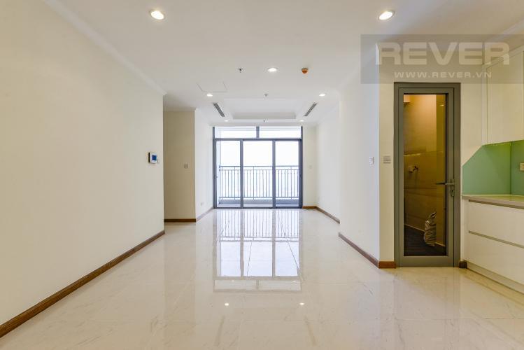 Phòng khách Căn hộ Vinhomes Central Park 2 phòng ngủ tầng cao L3 nội thất cơ bản