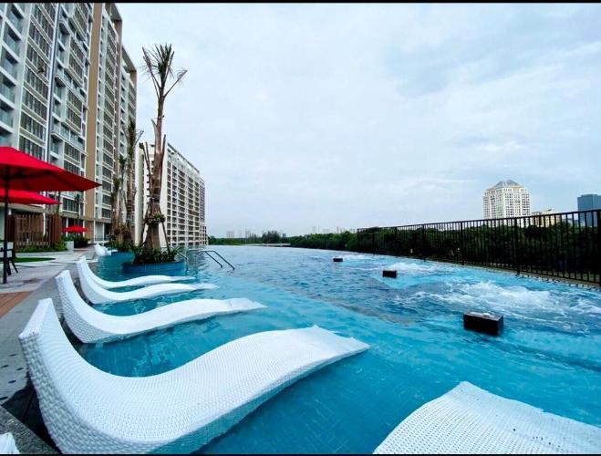 Hồ bơi Phú Mỹ Hưng Midtown Căn hộ Shophouse Phú Mỹ Hưng Midtown diện tích 47m2, bàn giao thô.