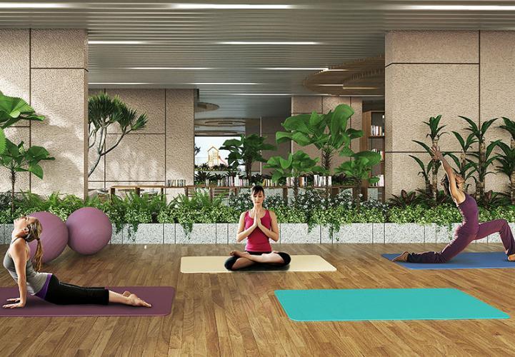 Tiện ích phòng tập yoga Opal Boulevard Căn hộ Opal Boulevard tầng trung hướng Tây Bắc thoáng mát.