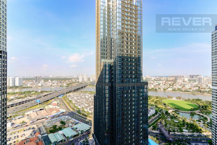 View Cho thuê căn hộ Vinhomes Central Park 83.8m2, view sông thoáng mát, nội thất hạng sang