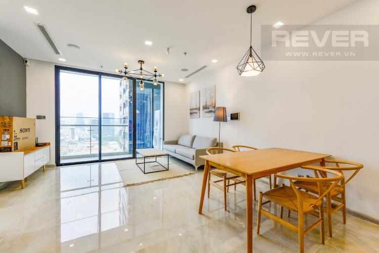 Phòng khách Căn hộ Vinhomes Golden River 2 phòng ngủ tầng cao A2 view sông