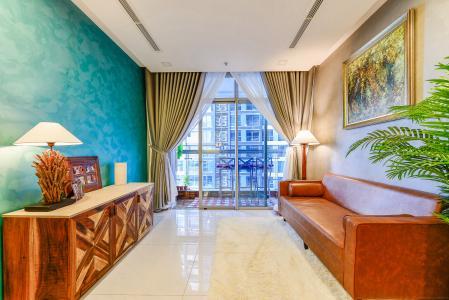 Căn hộ Vinhomes Central Park tầng trung, tháp Park 5, 2 phòng ngủ, full nội thất